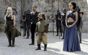 Grey Worm, Tyrion Lannister, Daenerys Targaryen, Missandei