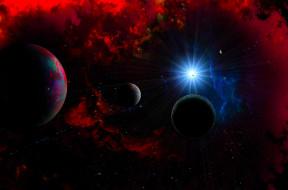 космос, арт, вселенная, планеты, галактика, звезды