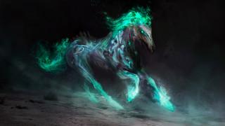 фэнтези, существа, фон, конь, существо