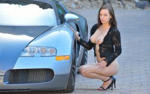 bugatti girl, эротика, девушки и автомобили, girl, bugatti, серый