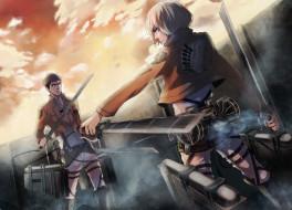 обои для рабочего стола 1920x1382 аниме, shingeki no kyojin, атака, титанов
