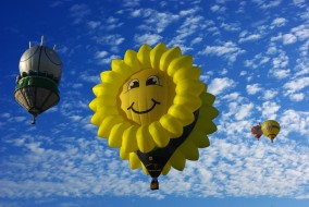 полет, воздушные шары
