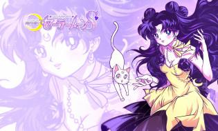 аниме, sailor moon, артемис, луна, кот, nepherenia, королева