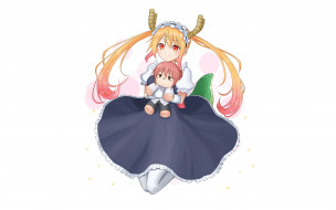 Miss Kobayashi`s Dragon Maid обои для рабочего стола 2560x1600 miss kobayashi`s dragon maid, аниме, фон, взгляд, девушка