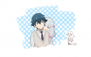 обои для рабочего стола 1920x1200 аниме, eromanga-sensei, фон, девушка, взгляд
