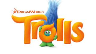 обои для рабочего стола 2560x1440 мультфильмы, trolls, логотип, фон