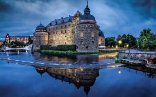 orebro castle, города, замки швеции, orebro, castle