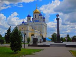 города, - православные церкви,  монастыри, памятник, храм, липецкая, собор, елец