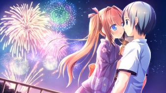 Love Rec обои для рабочего стола 2560x1440 love rec, аниме, loverec, фон, взгляд, девушка