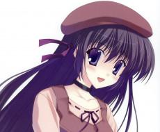 аниме, sola, фон, взгляд, девушка