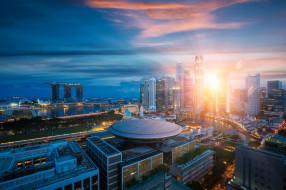 singapore city, города, сингапур , сингапур, рассвет