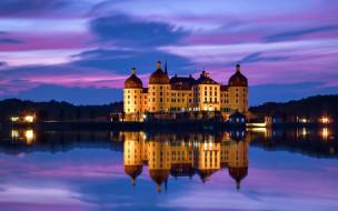 города, замок морицбург , германия, castle, moritzburg