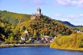 города, кохем , германия, cochem, castle