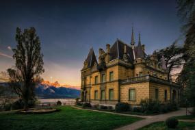города, замки швейцарии, hunegg, castle, switzerland