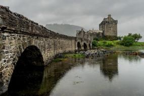 города, замок эйлен-донан , шотландия, eilean, donan, castle