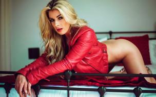 эротика, блондинки, куртка, tillie model