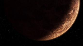 planet, Sci fi, stars, The Old Republic, planet Korriba, darkness, brown