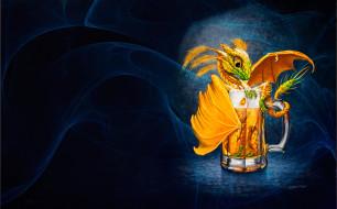 фэнтези, драконы, настроение, минимализм, арт, кружка, дракончик, stanley, morrison, beer, dragon