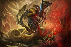 фэнтези, существа, змей, оружжие, существо, пещера