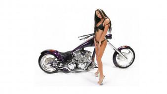 moto girl 753, мотоциклы, мото с девушкой, girls, moto