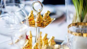 еда, конфеты,  шоколад,  сладости, зайцы, шоколадные