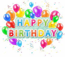 праздничные, день рождения, фон, шары