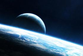 космос, арт, планеты, вселенная, звезды, галактика