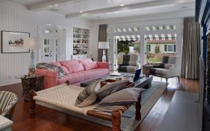 интерьер, гостиная, комната, дизайн, подушки, диван