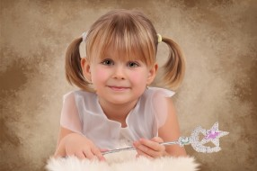 рисованное, дети, волшебная, палочка, взгляд, улыбка, девочка