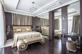 интерьер, спальня, дизайн, кровать, стиль