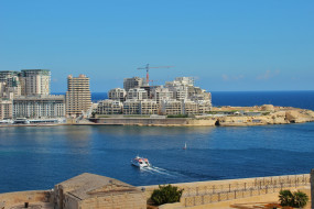 мальта, города, - панорамы, море, здания