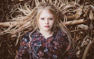 девушки, -unsort , блондинки, взгляд, настроение, дреды, лицо, волосы