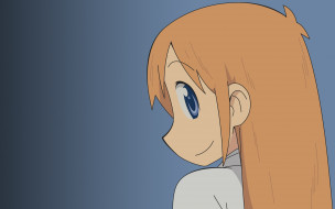аниме, lucky star, фон, взгляд, девушка