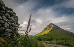 дорога, гора, камни, Шотландия