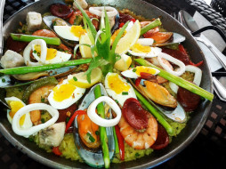 sea-foods paella