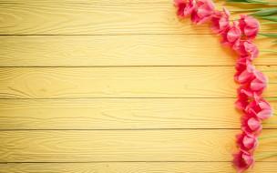 праздничные, международный женский день - 8 марта, wood, love, heart, тюльпаны, pink, romantic, розовые, цветы, tulips, 8, марта