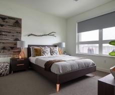 интерьер, спальня, стиль, штора, люстра, кресло, кровать