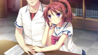 аниме, ryuusei kiseki -shooting probe, фон, взгляд, девушка