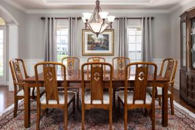 дизайн, мебель, столовая, люстры, стиль