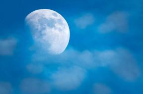 фон, небо, облака, луна