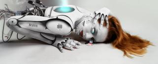 фэнтези, роботы,  киборги,  механизмы, киборг, фон, девушка