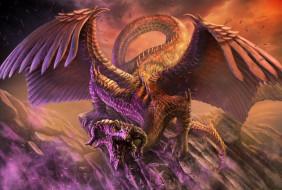 фэнтези, драконы, крылья, edikt, art, feathered, dragon, пернатый, дракон
