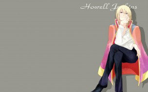 аниме, howl`s moving castle, парень