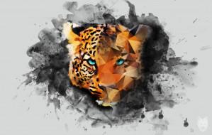 рисованное, животные, леопард