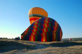 полетом, перед, воздушные, шары