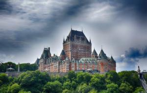 chateau frontenac - quebec city, города, квебек , канада, замок