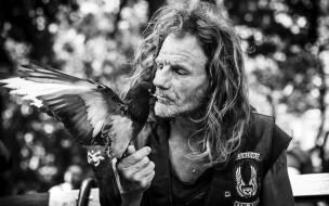 птица, человек, портрет