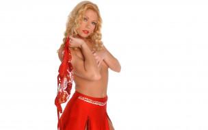 девушки, adriana malkova, адриана, малкова, блондинка, грудь, юбка, топ
