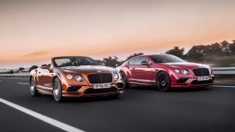 bentley continental gt supersports coupe and convertible 2018, автомобили, bentley, continental, gt, supersports, coupe, convertible, 2018