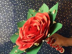 разное, ремесла,  поделки,  рукоделие, бутон, цветение, лепестки, розовая, роза